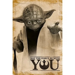 Plakát Star Wars - Yoda: May The Force Be With You