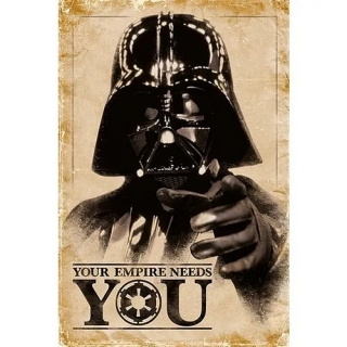 Plakát Star Wars - Darth Vader: Your Empire Needs You