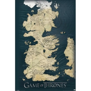 Mapa Game of Thrones - Hra o trůny