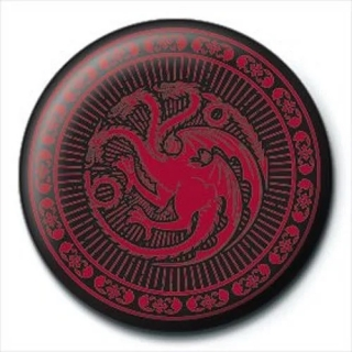 Placka Game of Thrones - Targaryen Sigil