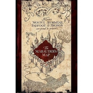 Plakát Harry Potter - The Marauders Map